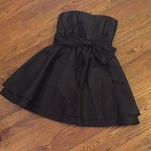 Alice + Olivia strapless black dress